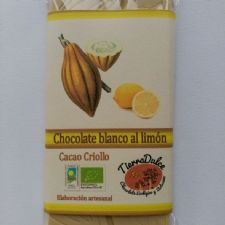 Chocolate blanco al limón